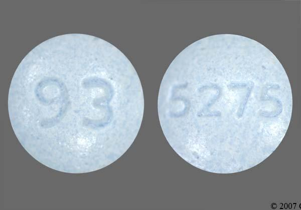 Pictures for blue round pill imprint 93 5275