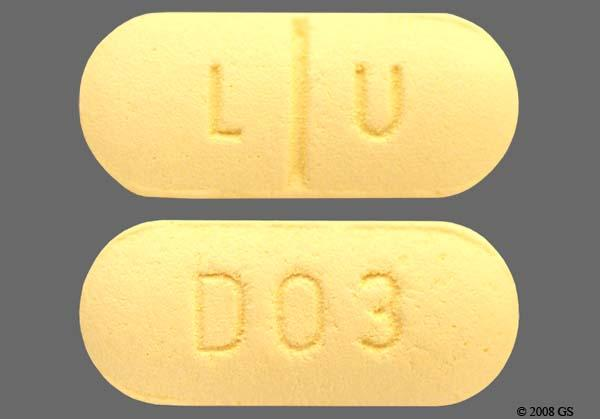 Yellow Oblong L U And D03 - Sertraline Hydrochloride 100mg Tablet