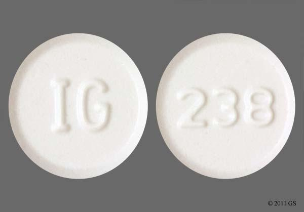 White Round 238 And Ig - Amlodipine Besylate 5mg Tablet