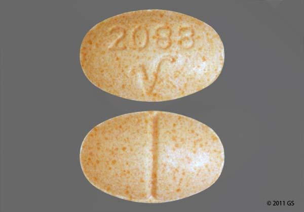 Peach Oval 2088 V - Alprazolam 0.5mg Tablet