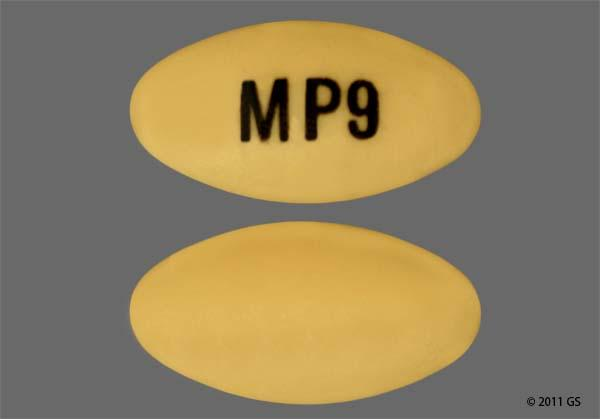 Yellow Oval M P9 - Pantoprazole Sodium 40mg Delayed-Release Tablet
