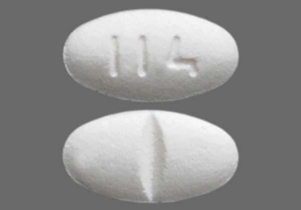 White Oval 114 - Losartan Potassium 50mg Tablet