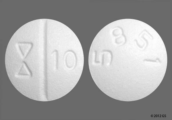 White Round Logo 10 And 5851 - Escitalopram 10mg Tablet