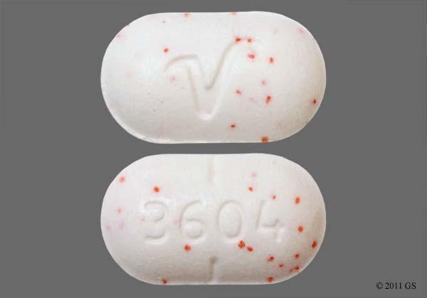 what does vicodin look like oblong