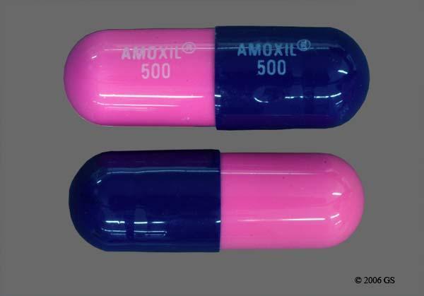 Blue And Pink Amoxil 500 Amoxil 500 - Amoxicillin 500mg Capsule