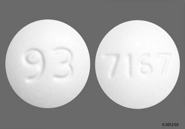 White Round 93 And 7167 - Amlodipine Besylate 5mg Tablet