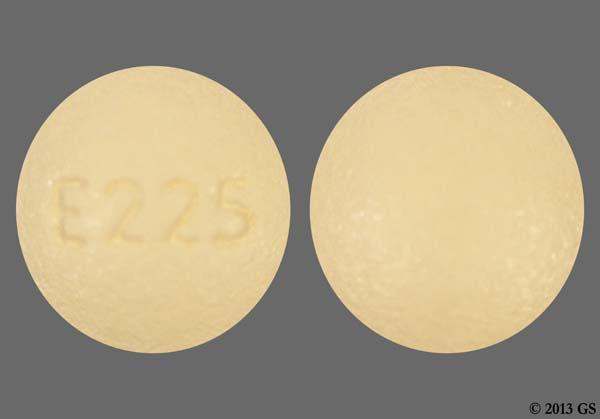 Beige Round E225 - Montelukast Sodium 10mg Tablet