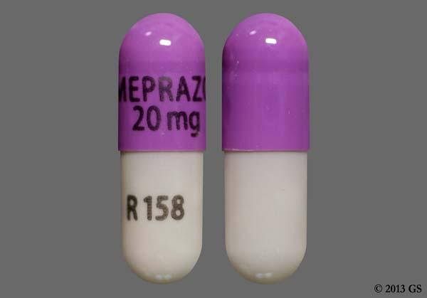 Purple And Gray Omeprazole 20 Mg R 158 - Omeprazole 20mg Delayed-Release Capsule