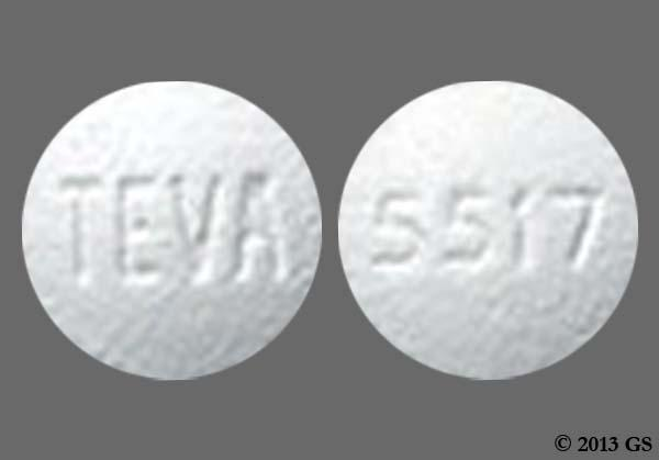 White Round Teva And 5517 - Sildenafil Citrate 20mg Tablet