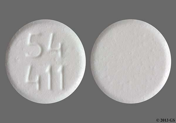 White Round 54 411 - Buprenorphine Hydrochloride 8mg Sublingual Tablet