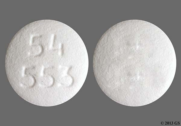 White Round 54 553 - Zolpidem Tartrate 10mg Tablet
