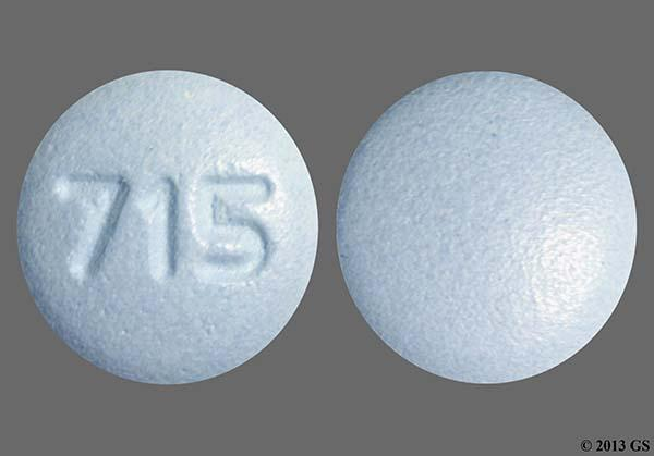 Blue Round 715 - Finasteride 5mg Tablet