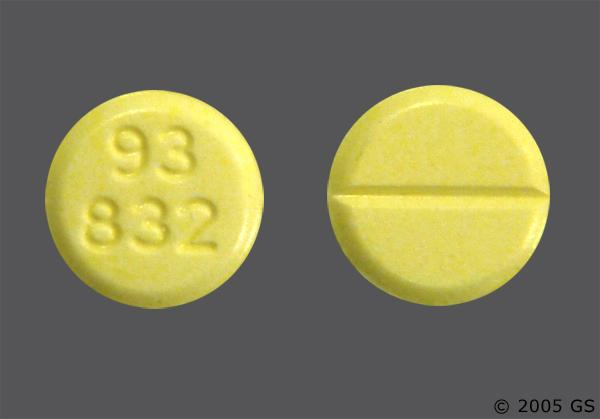 Yellow Round 832 And Teva - Clonazepam 0.5mg Tablet