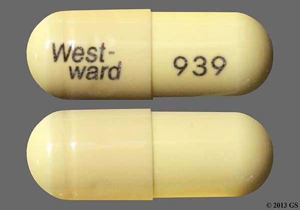 Beige West-Ward 939 - Amoxicillin 500mg Capsule