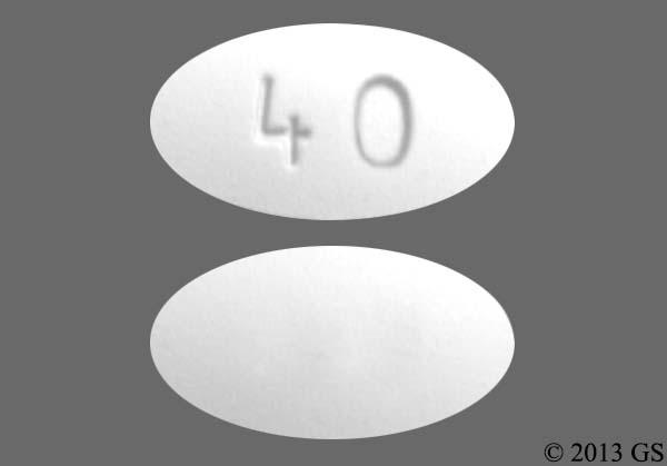 White Oval 40 - Atorvastatin Calcium 40mg Tablet