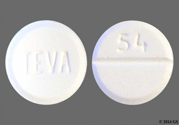 White Round 54, Teva, And 93 54 - Buspirone Hydrochloride 10mg Tablet