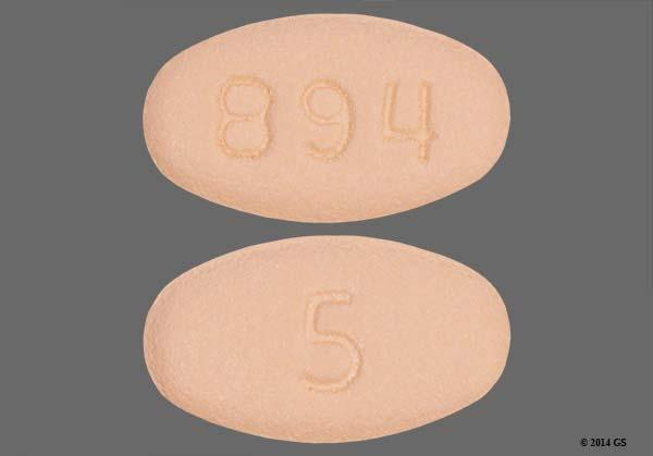 Pink Oval 5 And 894 - Eliquis 5mg Tablet