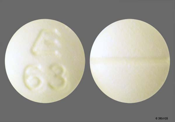 Yellow Round E 63 - Clonazepam 0.5mg Tablet