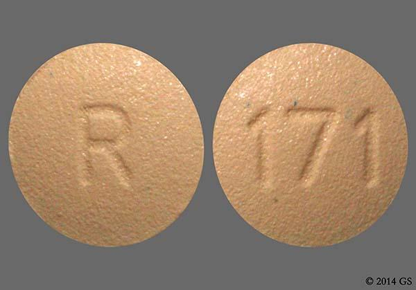 Beige Round R And 171 - Finasteride 1mg Tablet