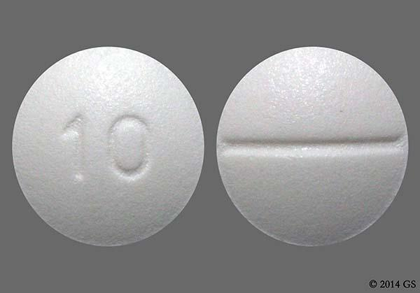 White Round 10 - Escitalopram 10mg Tablet