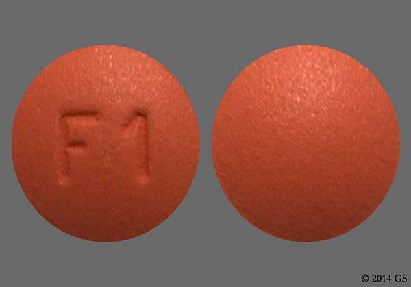 Red-Brown Round F1 - Finasteride 1mg Tablet