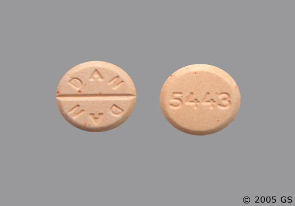 Peach Round 5443 And Dan Dan - Prednisone 20mg Tablet