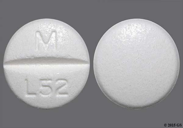 White Round M L52 - Lamotrigine 100mg Tablet