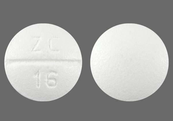 White Round Zc 16 - Paroxetine Hydrochloride 20mg Tablet