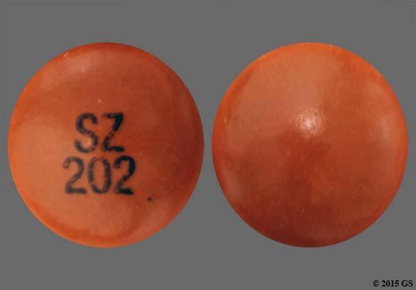 Orange Round Sz 202 - Chlorpromazine Hydrochloride 25mg Tablet