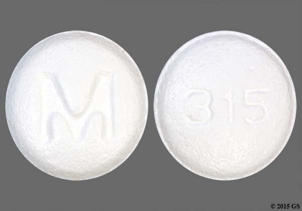 White Round M And 315 - Ondansetron Hydrochloride 4mg Tablet