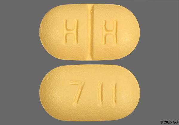Beige Oblong H H And 711 - Paroxetine Hydrochloride 20mg Tablet