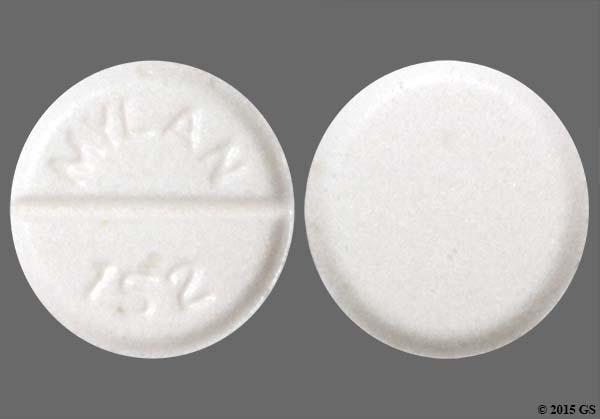 White Round Mylan 152 - Clonidine Hydrochloride 0.1mg Tablet