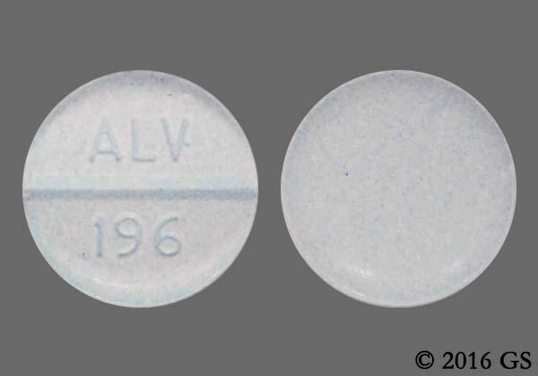 Blue Round Alv 196 - Oxycodone Hydrochloride/Acetaminophen 5mg-325mg Tablet