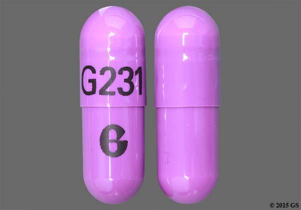Blue And Purple G231 G - Omeprazole 20mg Delayed-Release Capsule