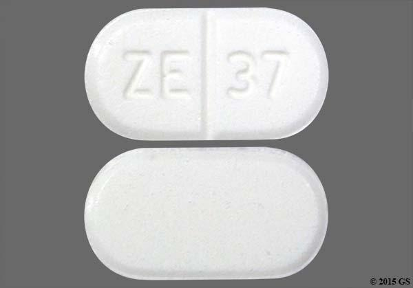 White Oblong Ze 37 - Buspirone Hydrochloride 10mg Tablet