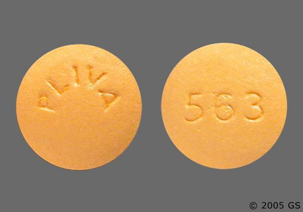 Yellow Round 563 And Pliva - Cyclobenzaprine Hydrochloride 10mg Tablet