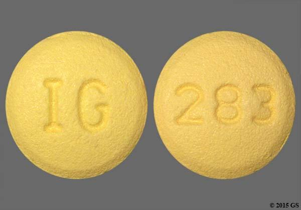 Yellow Round 283 And Ig - Cyclobenzaprine Hydrochloride 10mg Tablet