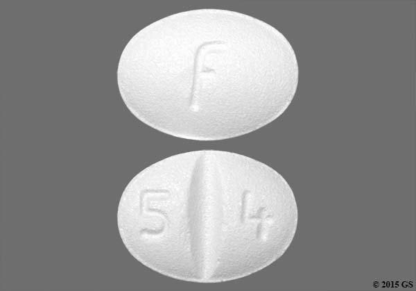 White Oval 5 4 And F - Escitalopram 10mg Tablet