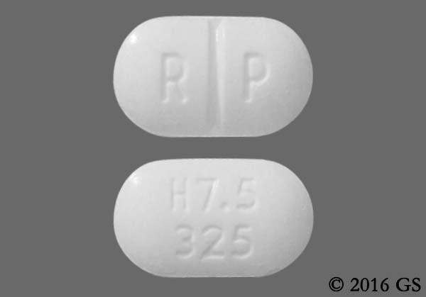hydrocodone acetaminophen with imprint h7 5 325 pill images goodrx