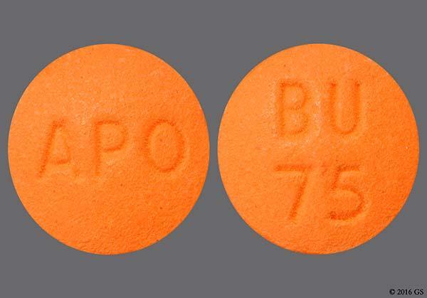 Orange Round Bu 75 And Apo - Bupropion Hydrochloride 75mg Tablet
