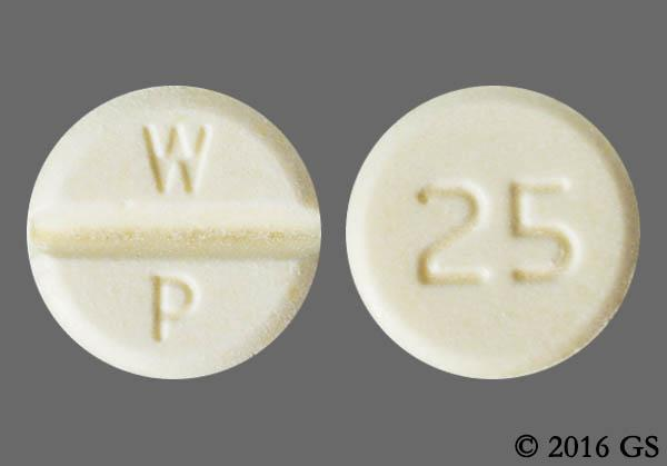 Yellow Round With Imprint 25 Pill Images - GoodRx