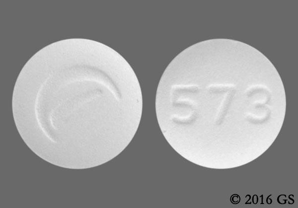 White Round 573, Logo, And 5 73 - Losartan Potassium 50mg Tablet