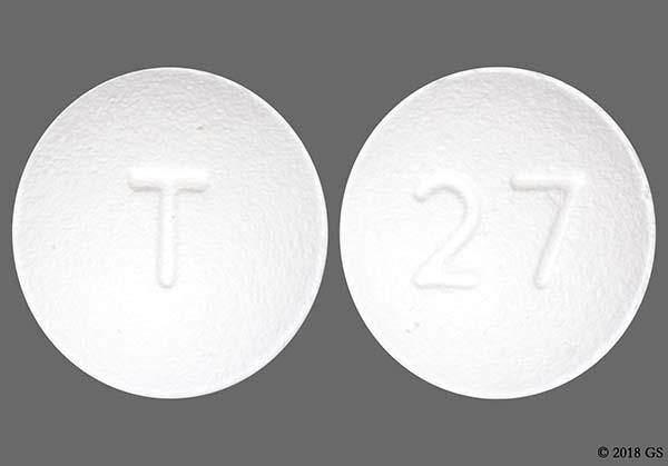 White Round 27 And T - Sildenafil Citrate 20mg Tablet