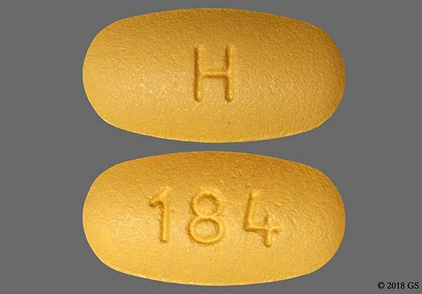 Brown Oval H And 184 - Valsartan 160mg Tablet