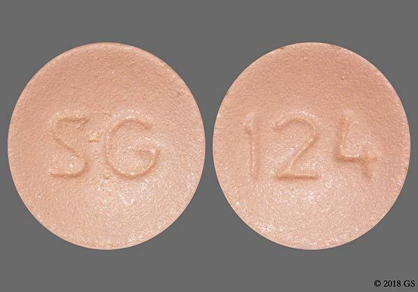 Pink Round 124 And Sg - Clopidogrel 75mg Tablet