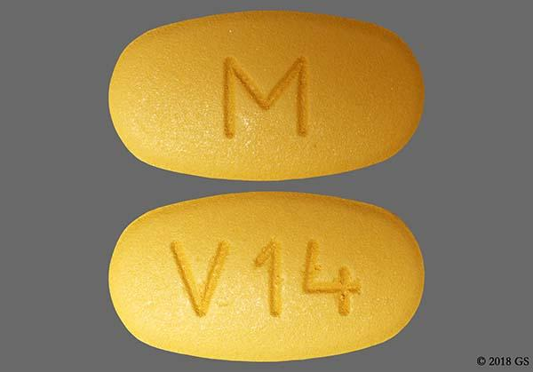 Orange Oval M And V14 - Valsartan 160mg Tablet