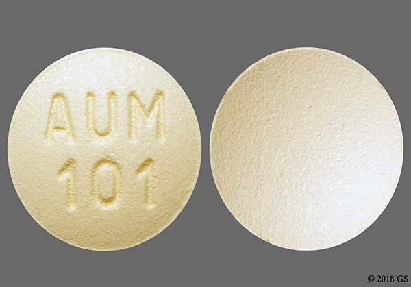Beige Round Aum 101 - Montelukast Sodium 10mg Tablet