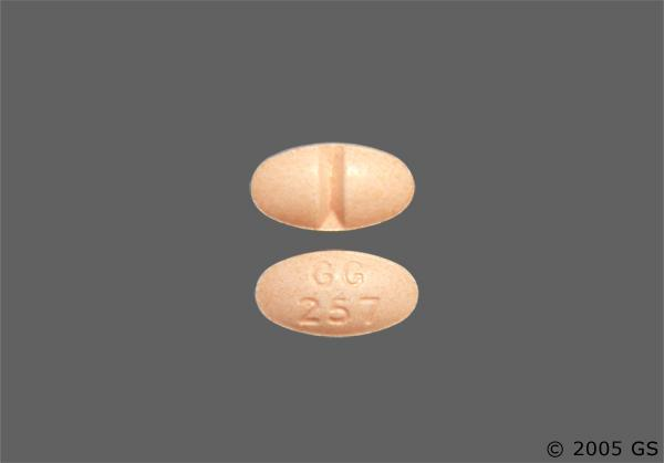 Peach Oval Gg 257 - Alprazolam 0.5mg Tablet