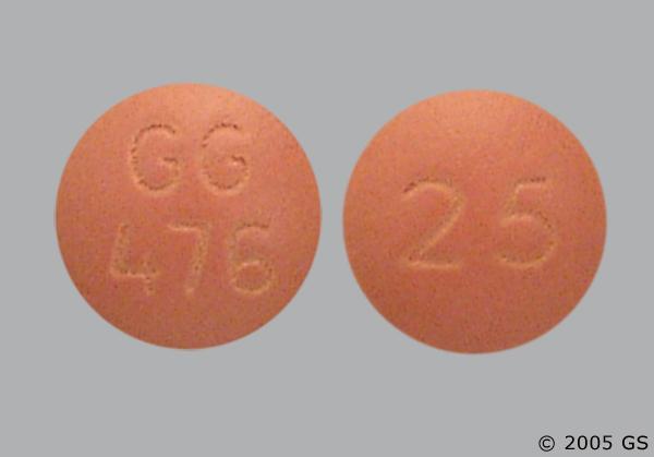 Orange Round 25 And Gg 476 - Chlorpromazine Hydrochloride 25mg Tablet