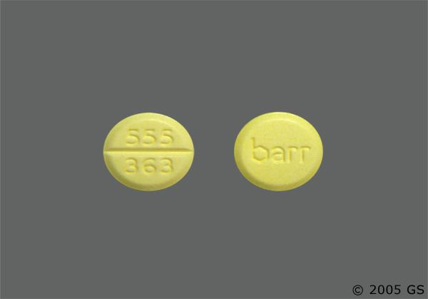 Yellow Round Barr And 555 363 - Diazepam 5mg Tablet